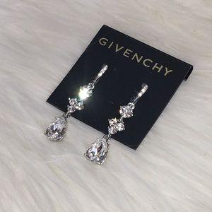 bride wedding GIVENCHY dangle drop crystal earring